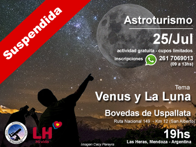 Astroturismo en Uspallata